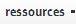 Ressources moteur de recherches tisserands