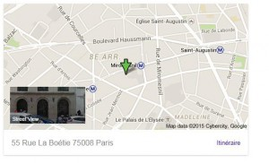 Annee formation SERP google maps