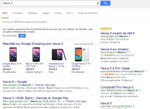 Article formation SERP commercial