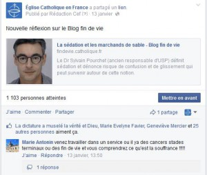 Blog fin de vie facebook