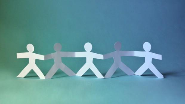 Team personnes ensemble tisserands