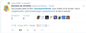 Tweet Journée diocèses internet