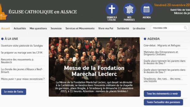 le nouveau site du  diocèse de Strasbourg